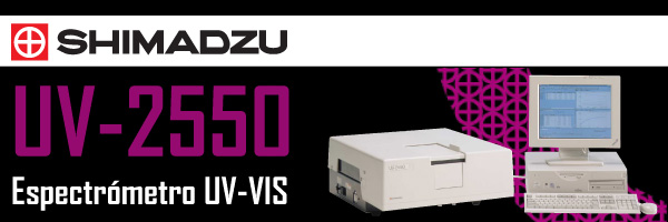 Espectrómetro UV VIS Shimadzu UV-2550